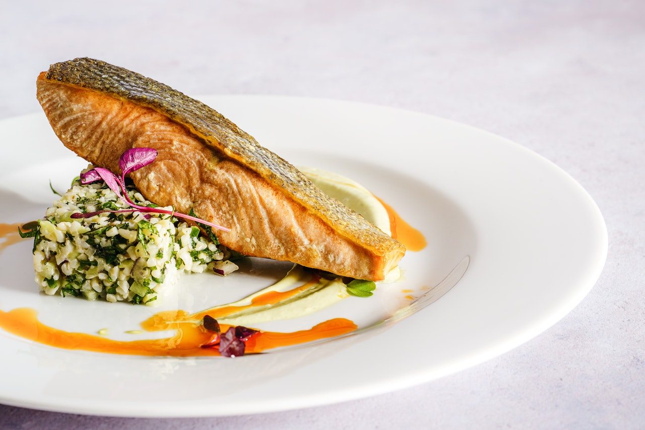Приготовление лосося c горохом